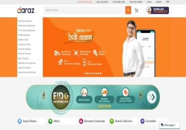 build laravel ecommerce website professionally