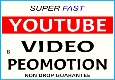 YOUTUBE VIDEO PROMOTION NON DROP & ORGANIC HIGH QUALITY WITH SUPER FAST