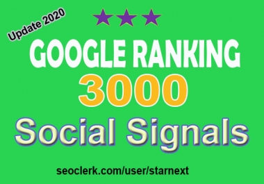 Hi-power 3000 best quality top social signals Boost your website
