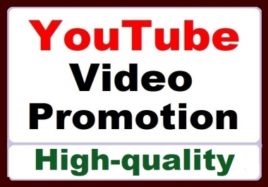 YouTube Video Promotion All In One Service High Quality