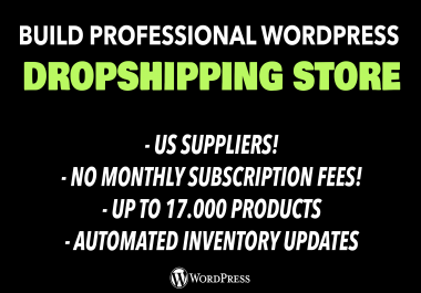 I will create professional dropshipping store