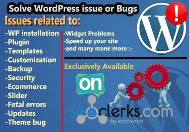 I will fix wordpress website issue or error in 12 hours