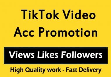 TikTok Video Account Promotion and Marketing via social media views