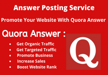 Provide High Quality Quora answer With website Keyword & URL
