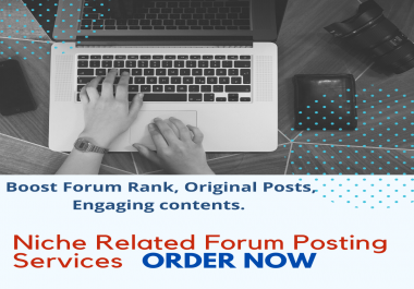 I will write forum posts for you