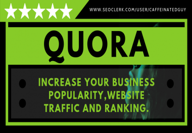 Professional Quora Answer with Backlink