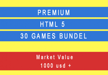 i will give you 30 html 5 games