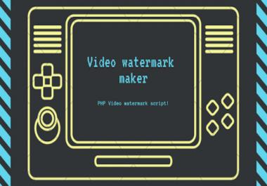 Video Watermark Marker - PHP Video Watermark Script