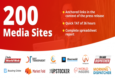Will Publish And Distribute Your Press Release To 200 Sites