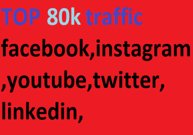 80k,boost website keyword real organic targeted web traffic, facebook, instagram, youtube, twitter