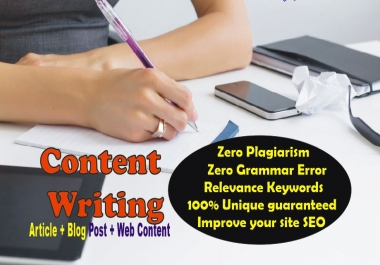 1500++ words ARTICLE or BlogPost- Professional SEO Content for websites