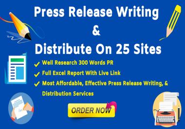 100+ Order -Killer press release writing & distribution