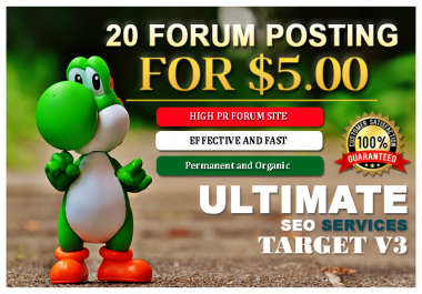 Do 20 Niche Relevant Forum Posting With High DA PA