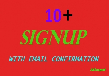 10+ signup or registration with email confirmation Captcha, different IP