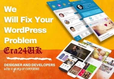 Fix Issues, WordPress Errors, MySQL, PhP, Login Problem, Servers, Dedicated, Shared Hosting