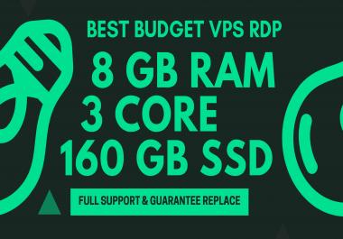 BEST BUDGET WINDOWS RDP VPS 8GB RAM 3CORE 160GB SSD
