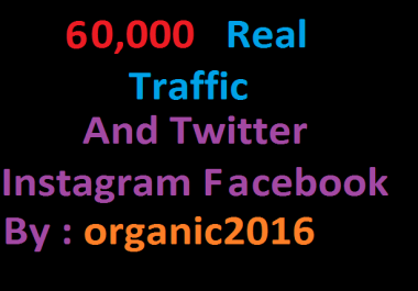 Promote Your Product In High 600,000 Real Traffic From Twitter instagram facebook linkedin