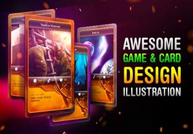Design Unique Card Game And Game Illustration