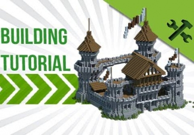 Making buildings in minecraft , verry profesional