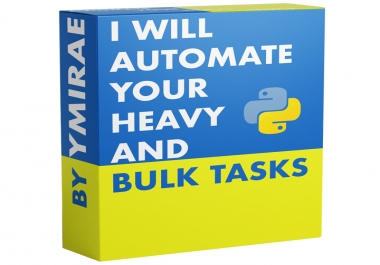 developing bot for automate your heavy and bulk tasks
