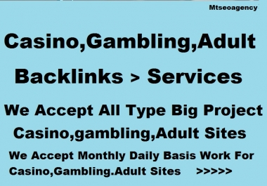 CASINO, POKER, GAMBLING, Adult, RELATED top class 100 backlinks package