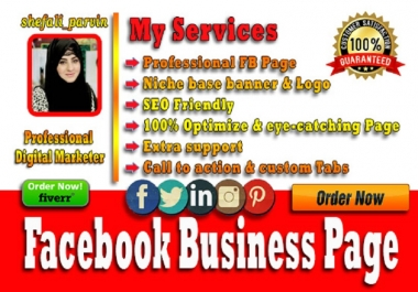 Create and optimize facebook, twitter, Instagram, Linkedin business page
