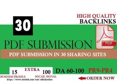 100 % Manual PDF Creation & Submission Service!