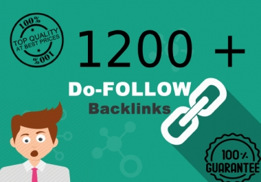 Provide 1200 Do-follow High PR Metrics Backlinks now