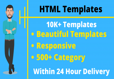 Unlimited Responsive HTML Premium Site Templates 500+ Category