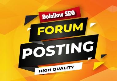 Do Manually 60+ Unique HQ Forum Posting SEO Backlinks for Google Ranking