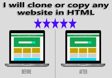 i will clone or copy any website in HTML