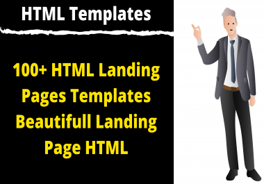 100+ HTML Landing Pages Templates Beautiful Landing Page HTML