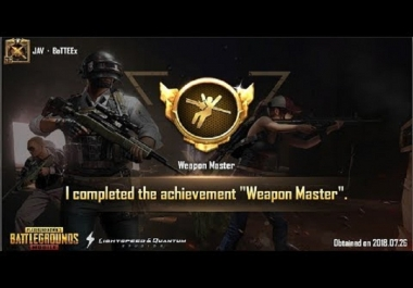 I will help you to get weapon master title and play pro pubg mobile