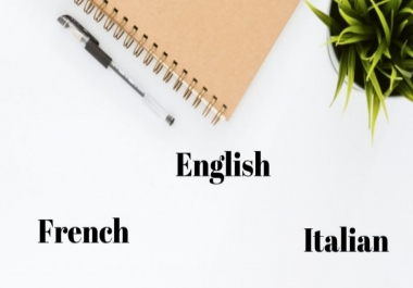 Translation from English/French into Italian