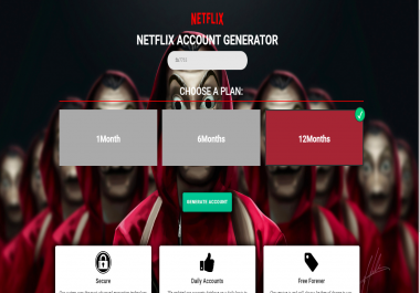 NETFLIX landing page for CPA Offers