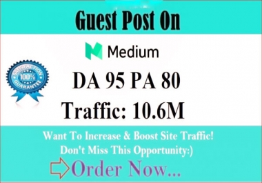 Write and publish guest post Medium .com DA-95, index guarantee within 24 hours