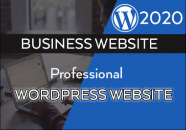 I will create professional WordPress website and logo design