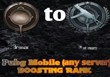 pubg mobile bronze to platinum I (any map and any sever)