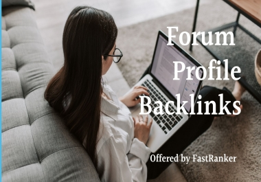 Create 122 Forum Profile backlinks for SERP and SEO Fast Ranking