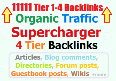11111 Tier4 Backlinks Guaranteed Organic Traffic Super Booster for Quality Traffic