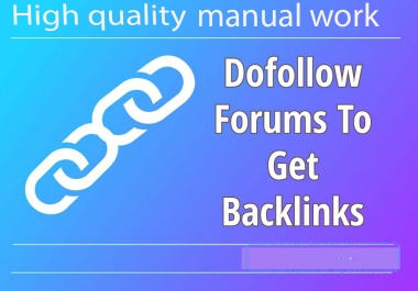 Create 30 High DA forums site backlinks with high pr and dofollow links