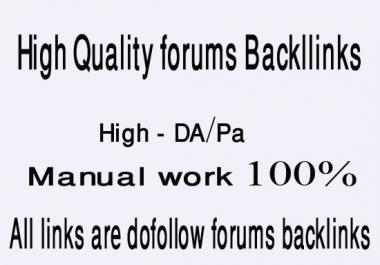 Create 30 High DA forums site backlinks with high pr and dofollow links