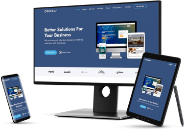 I will design modern responsive website with html,css,bootstrap and javascript