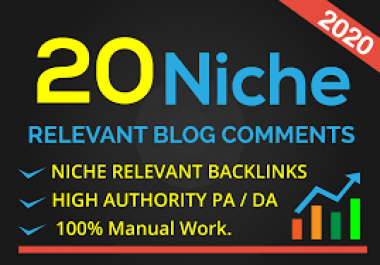I will create 20 niche relevant blogcomments backlinks