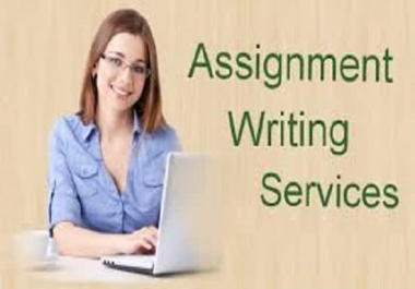 I will write and design your any type of assignment at your price