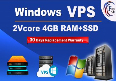 I will setup windows VPS 2vCPU 4Gb with more faster SSD