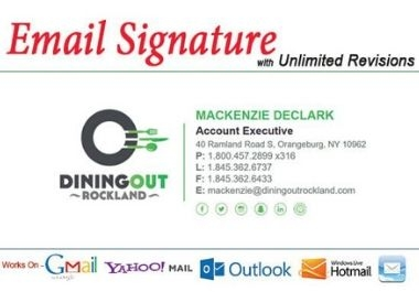 Get Email Signature with Unlimited Revision