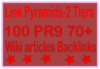 Top Multi-Tier Backlinks - 10000 PR9 DA 70+ &. Wiki articles Tiered Backlinks For SEO