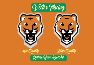 I will do vector tracing,renew or redraw your logo or art