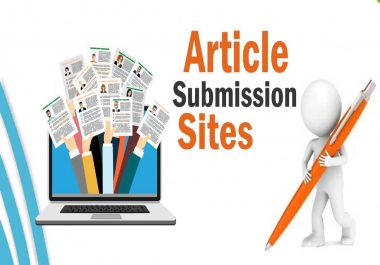 60 article submission on da 40to50 and unique with dofollow backlink